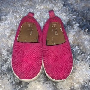 TOMS Pink Toddler shoes size 5